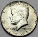 USA 1/2 dolara, Half Dollar Kennedy 1967