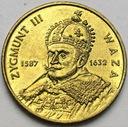 2 zł, złote 1998 Zygmunt III Waza