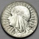 5 zł złotych 1934 Głowa kobiety, Polonia, ŁADNA