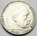 Niemcy 2 marki Niemcy 1937 Hindenburg SREBRO