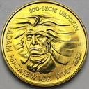 2 zł, złote 1998 Adam Mickiewicz