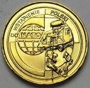 2 zł, złote 1999 Wstąpienie Polski do NATO
