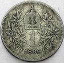 Austro-Węgry 1 korona 1899 SREBRO