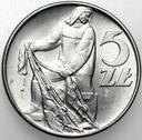 5 zł, pięć złotych z Rybakiem 1974 Rybak