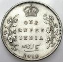 Indie 1 Rupia 1910 SREBRO