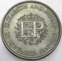 Wielka Brytania 25 pensów 1972 Elżbieta i Filip