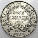 Indie 1 Rupia 1835 SREBRO
