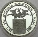 200000 zł złotych 1991 Konstytucja 3 Maja