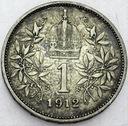 Austro-Węgry 1 korona 1912 SREBRO