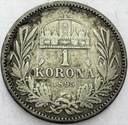Austro-Węgry 1 korona 1895 SREBRO